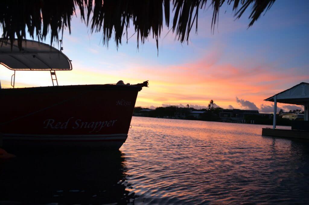Zonsondergang boot trip op Curacao